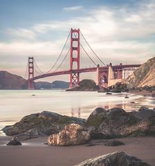 Golden Gate Bridge at Marshall Beach (Cyril Bornette Photography) Tags: longexposure bayarea beach landscape sanfrancisco outdoorphotography marshallbeach goldengatebridge bridge ocean california unitedstates us
