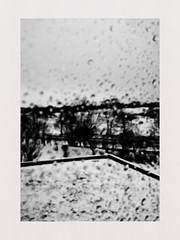 Monodropped (seba0815) Tags: microsoft lumia phone monochrome black white window view snow water drops abstract lumia950 bw blanc noir schwarzweiss phonography mobile cellphone