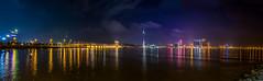 Panorama Night Scene of Macau (Stanley1155) Tags: panorama night scene macau canon 6d ef 1635 city water sea coast bridge light