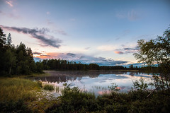 Silence (Appe Plan) Tags: sun sunset setting sky clouds colours colors reflection trees forest countryside nature view landscape appe nikon d700 sweden dalarna