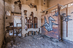 Abandoned toilets and graffiti. (slworking2) Tags: nilandmarina niland saltonsea urbex urbanexploration decay abandoned lake desert california toilet loo bathroom kybo