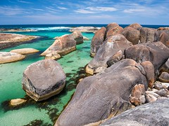 Elephant Rocks (bayernphoto) Tags: australien western australia elephant cove rocks westaustralien granit formation felsen grünes wasser meer sea spektakulär küste coast sunny sonnig blue sky william bay np national park nationalpark
