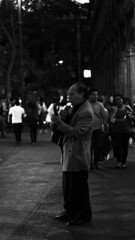 cancionera dime tu (RibenGabriel) Tags: bokeh streephotography black white colors night street mexico cuernavaca morelos man homeless