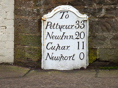 Milestone (Cast Iron) (nz_willowherb) Tags: scotland fife newport milestone