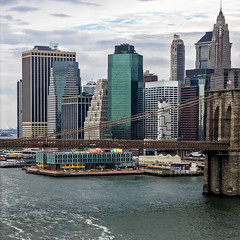 Brooklyn Bridge (Lucille-bs) Tags: amérique etatsunis usa newyork manhattan city nyc brooklynbridge eastriver building architecture fleuve 500x500