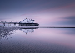 Dawnlight (EXPLORE 02.02.2017) (Fern Blacker) Tags: sunrise eastbourne reflections eastsussex pier eastbournepier leefilters bigstopper sky water beach sea seascape pastels leebigstopper longexposure