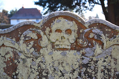 frosted and lichened skull (18th Century) (Simon_K) Tags: campsea ashe campsey ash suffolk eastanglia church churches nikon d5300