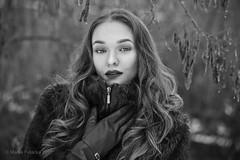 L. (biely vlk) Tags: winter cold portrait lips face outdoor people monochrome