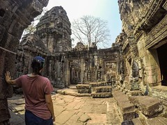 Me in Ably shirt at Angkor Wat