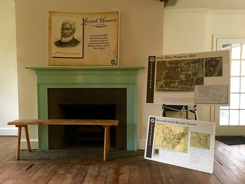 Room Downstairs - Interpretive Panels and Fireplace