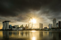 Hope in the Darkness (::: Dennis Liang :::) Tags: cityscapre skyline sunshine cloud waterfront