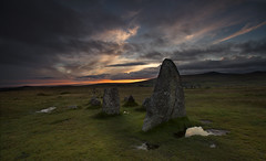 Merrivale Stone Row (explored) (yadrad) Tags: sunset devon granite dartmoor southdevon dartmoornationalpark merrivale thewestcountry southdartmoor merrivalestonerow