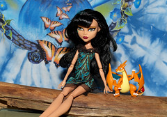 Cleo & the Dragon (DayBreak.Images) Tags: home fun doll dragon pokemon cleo silkypix everafterhigh pentaxk50