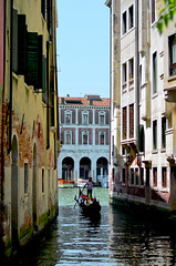 Venice - beautiful but jammed with people place (MRusenov) Tags: city venice italy travelling water boat italian outdoor gondola typical canale venecian