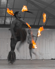 火之舞者 🔥 (nzfisher) Tags: newzealand blackandwhite monochrome canon fire mono dance stage auckland flame torch warrior maori 24mm howick cocklebay