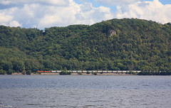 Westbound Along the River (bkays1381) Tags: wisconsin bnsf lakepepin stockholmwisconsin