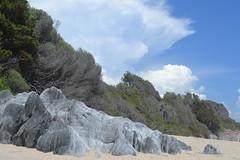 Corse (Marine HAUPT) Tags: france nature montagne landscape view corse ciel pierres nuage plage maquis littoral entredeux