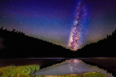 Milky way over the unnamed lake