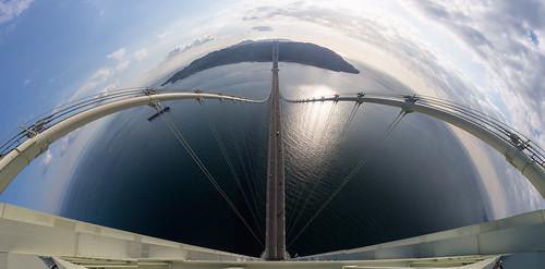 明石海峡大橋 主塔塔頂 淡路側