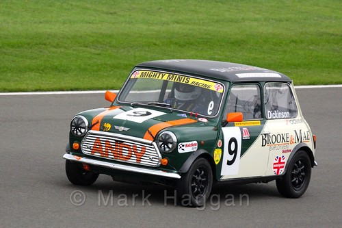 Andrew Dickinson in Mighty Minis at Donington Park, October 2015