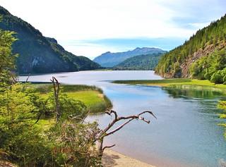 Lago verde ,Parque nacional los alerces,Chubut,Patagonia Argentina