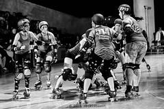 rebels_vs_panic_L1063724 1 (nocklebeast) Tags: ca usa santacruz rollerderby rollergirls zombies vampires skates organicpanic santacruzderbygirls redwoodrebels