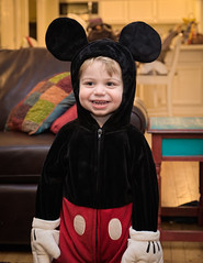 Jesse, cutest Mickey Mouse ever (markie623) Tags: portrait halloween smile childhood costume child