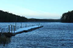 Brrr , idag inbjuder inte sjön till bad (Annica Spjuth) Tags: diagonal brygga hinsen kyligt fotosondag fs151122 novemberkall
