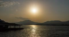 Sun Heading Down at Miyajima (-Astin-) Tags: trip travel sunset vacation sun mountains japan clouds landscape miyajima vista trips waters sigma18200os canon7d