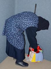 Slave charwoman in summer work uniform (Buses,Trains and Fetish) Tags: summer girl uniform warm hijab apron sweat fleece niqab maid slave burka chador charwoman