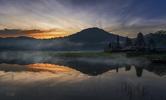 Morning Fog (Jose Hamra Images) Tags: sunset bali lake sunrise denpasar danau tamblingan