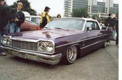 64 Impala Lowrider (Lowrider2905) Tags: film car analog vintage germany deutschland us gm hamburg meeting oldschool ami v8 treffen farbfoto