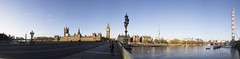 180 degree Panarama of Parliament and London Eye (marc_morris1982) Tags: city uk morning bridge blue sky london eye tower clock tourism water lamp westminster thames canon river outside outdoors eos early big cityscape ben politics sigma londoneye parliament bigben icon calm clocktower 180 lampost 700 riverthames canoneos 18200 attraction 180degrees toursit 18200mm cityofwestminster sigma18200 sigma18200mm sluesky sigmadg canon700 700d canon700d t5i canont5i dg18200 dg18200mm