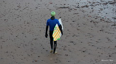 Hair matching my fins (mootzie) Tags: green beach hair surfer surfing aberdeen surfboard granite lime reef fins wetsuit