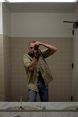 Self-Portrait, Long Beach Museum of Art (jjldickinson) Tags: selfportrait art museum bathroom mirror longbeach metaphotography lbma longbeachmuseumofart jacobdickinson nikond3300 promaster52mmdigitalhdprotectionfilter nikon1855mmf3556gvriiafsdxnikkor 103d3300