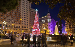 Christmas Lights (Carlos Snchez Santos - Deep Blue Fotografa) Tags: madrid xmas tree lights navidad luces spain chritsmas navideas arbolnavidad lucesnavideas