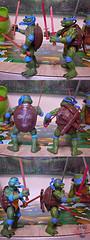 """Nickelodeon """"HISTORY OF TEENAGE MUTANT NINJA TURTLES"""" FEATURING LEONARDO -  'MOVIE STAR' LEO iv / ..with Original MOVIE STAR Leo '92 (( 2015 )) (tOkKa) Tags: nickelodeon tmnt teenagemutantninjaturtles historyofteenagemutantninjaturtlesfeaturingleonardo toys figures leonardo 2015 displaystand playmatestoys toysrus toysrusexclusive moviestartmnt toontmnt ninjaturtlesthenextmutation 4kidstmnt tmnt2003 tmntmovie4 paramountsteenagemutantninjaturtles varnerstudios 2007 1992 1993 1988 2006 2005 2014 2012 tmntfastforward paramountteenagemutantninjaturtles tmnt2014movie eastmanandlairdsteenagemutantninjaturtles comic toonleo turtlemilkstudios davearshawsky imagesrctokkaterrible2zcom"""