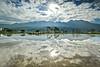 水漾淡水 (686阿鴻) Tags: 風景 倒影 天空 白雲 陽光 農村 山陵