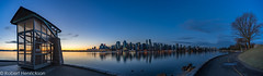 Xmas-17 (Robert Henrickson) Tags: sunrise vancouver downtown twilight bluehour panorama 9oclockgun brocktonpoint stanleypark seawall crescentmoon calmwater coalharbour vancouverisawesome cityscape skyline beautifulbritshcolumbia