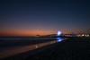 Santa Monica Pier (BrianEden) Tags: night xpro1 sunset pier reflection losangeles santamonica fujifilm la beach ocean fuji sky sea dusk ferriswheel light california unitedstates us