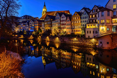 Tübingen 01/01/17 (kanaristm) Tags: tübingen germany badenwürttemberg neckar river copyright2017kanaristm copyright2017tmkanaris kanaris kanarist kanaristm tmkanaris tmk nikon photography travel lowlight blue europe 2017 january