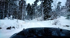 Winter is back. (Papa Razzi1) Tags: 8545 2017 004365 winter january 7c sweden xperiax road white