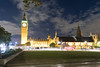 Big Ben seen from Parliament Square Garden (villeah) Tags: unitedkingdom england london street architecture bigben unescoworldheritagesite night thepalaceofwestminster traffic doubledeckerbus gb