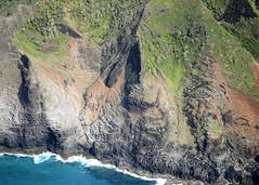 Kalalau Trail, Crawler's Ledge faces forward. Na Pali Coast, Kauai, Hawaii. Kalalau Trail Aerial. (lihue1946) Tags: hiking kauai hawaii trail cliffs aerialkalalautrail napalicoast