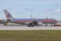 N677AN - 1998 build Boeing B757-223, rolling for departure on Runway 8R at Miami (egcc) Tags: 5ej 29427 828 aa aal american americanairlines b752 b757 b757200 b757223 boeing dadecounty florida kmia lightroom mia miami n677an