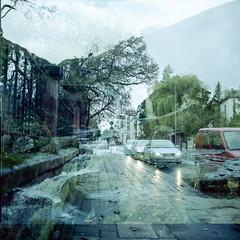 Not a flood (ronet) Tags: filmswap doubleexposure utata 120 mediumformat portra kodak
