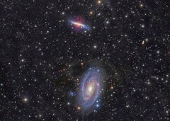 M81 and M82 (Paddy Gilliland @ Image The Universe) Tags: m81 m82 cigar bode bodes galaxies ngc ic space nebula nebulae stars night astro astronomy astrophoto astrophotography ap narrowband hubble cosmos texture abstract outdoor wide widefield nighttime sky dark colours astrometrydotnet:id=nova1894319 astrometrydotnet:status=solved