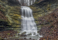 Waterfall in Southern Indiana. (Bernie Kasper) Tags: art berniekasper cliftyfallsstatepark cliftyfalls creek d600 effect family hiking indiana indianawaterfalls jeffersoncounty landscape leaf leaves madisonindiana madisonindianacliftyfallsstatepark madison nature nikon naturephotography new outdoors outdoor old outside ohioriver photography park raw river rocks travel tree trees trail statepark water winter white waterfalls waterfall yellow