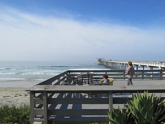 Patio overlooking Scripps Pier (aking1) Tags: sandiego california unitedstates