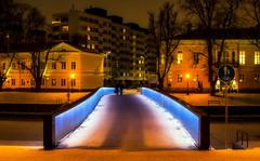 Bridge (Joni Mansikka) Tags: winter river bridge lights snow ice riverside buildings riverbanks trees aurajoki turku suomi finland outdoor canonef2880mmf284lusm